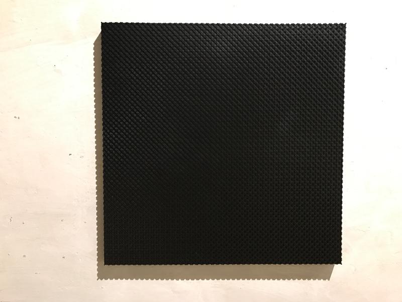 GRID BLACK MATTE Canvas  100 x 100 x 5 cm Technopolymer Car paint black matte