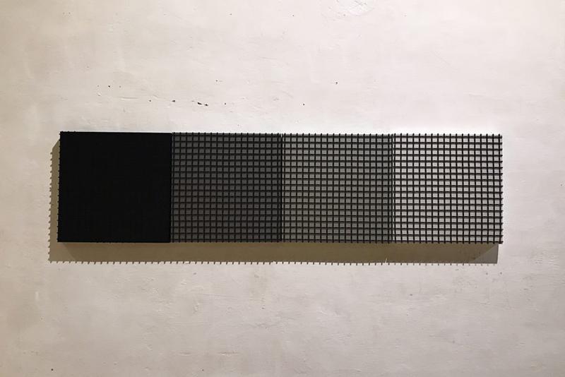 GRID EDITION 02 BLACK MATTE SMALL Canvas  a 50 x 50 x 5 cm Car paint matte metallic Technopolymer black matte