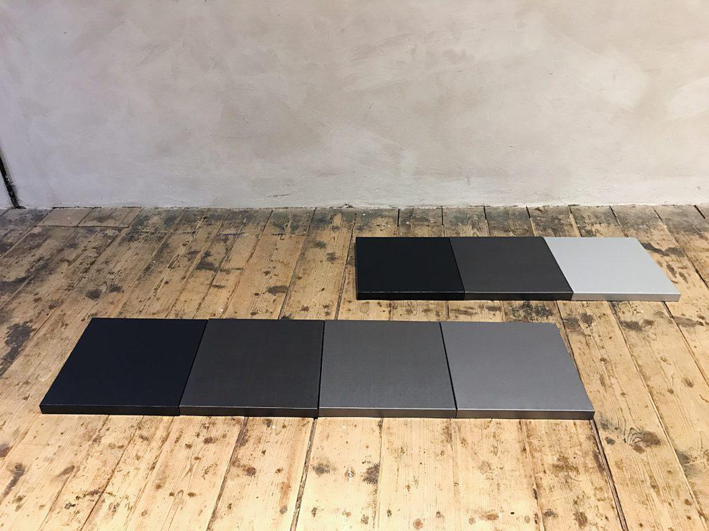 GREY METALLIC SHADES Canvas  a  50 x 50 x 5 cm Car paint metallic