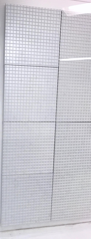 GRID EDITION 01 GREY METALLIC Canvas  No1 Small 50 x 50 x 5 cm Car paint metallic Technopolymer white matte