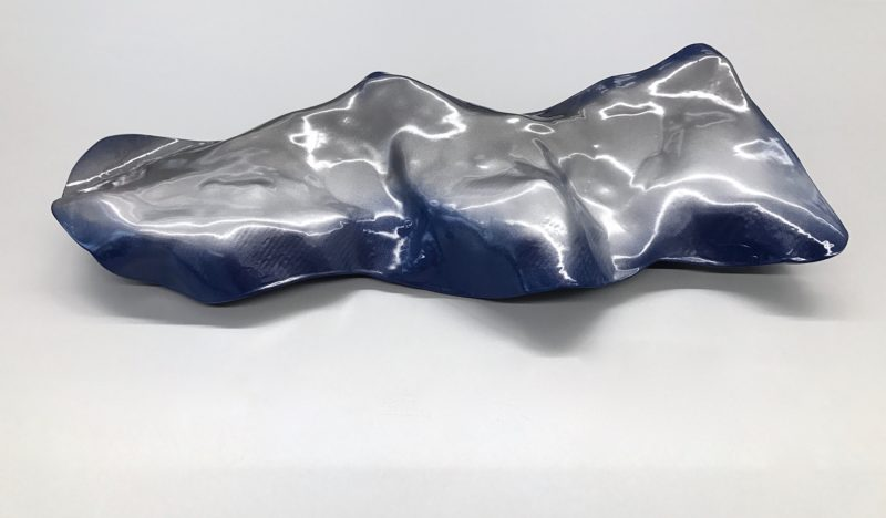 SKYFALL Sculpture 65 x 25 x 10 cm Carbon Wood  Epoxy resin Car paint metallic