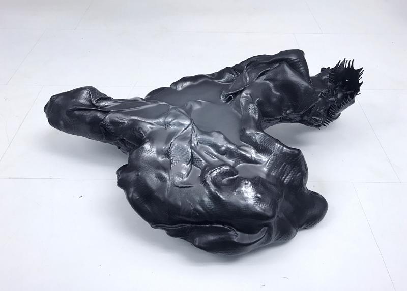 UNTITLED Sculpture  71 x 47 x 21 cm Wood Carbon Epoxy resin Car paint metallic matte