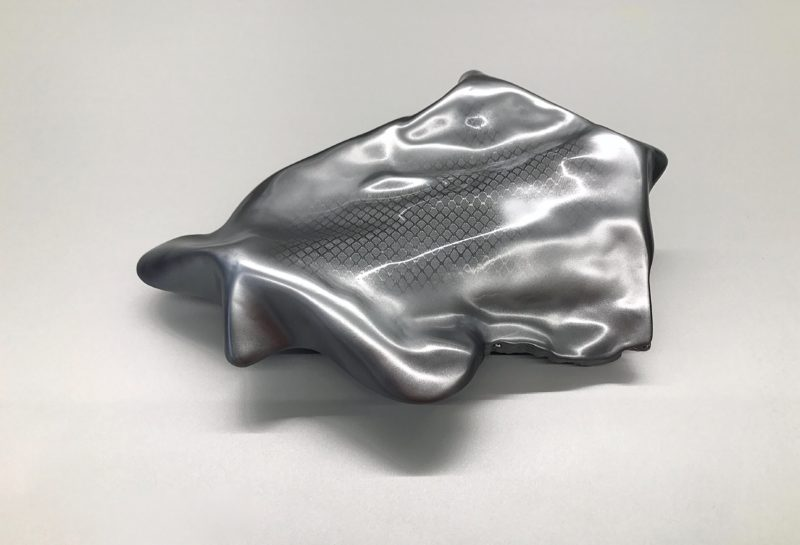 WOOD/ CARBON- POETRY Sculpture  43 x 33 x 11 cm Wood Carbon Epoxy resin Car paint metallic glossy