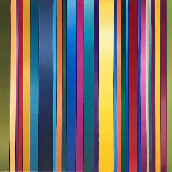 WAHRNEHMUNGSSTREIFEN 02 Canvas  60 x 60 x 2 cm Oil on canvas