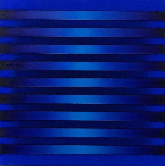 WAHRNEHMUNGSSTREIFEN 04 Canvas  70 x 70 x 2 cm  Acrylic Oil on canvas