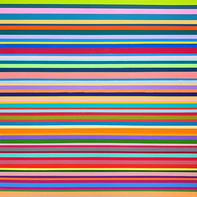 WAHRNEHMUNGSSTREIFEN 03 Leinwand : 100 x 100 x 2 cm Oil on canvas
