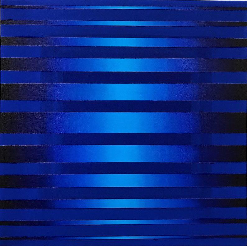 WAHRNEHMUNGSSTREIFEN 06 Canvas  60 x 60 x 2 cm  Acrylic Oil on canvas