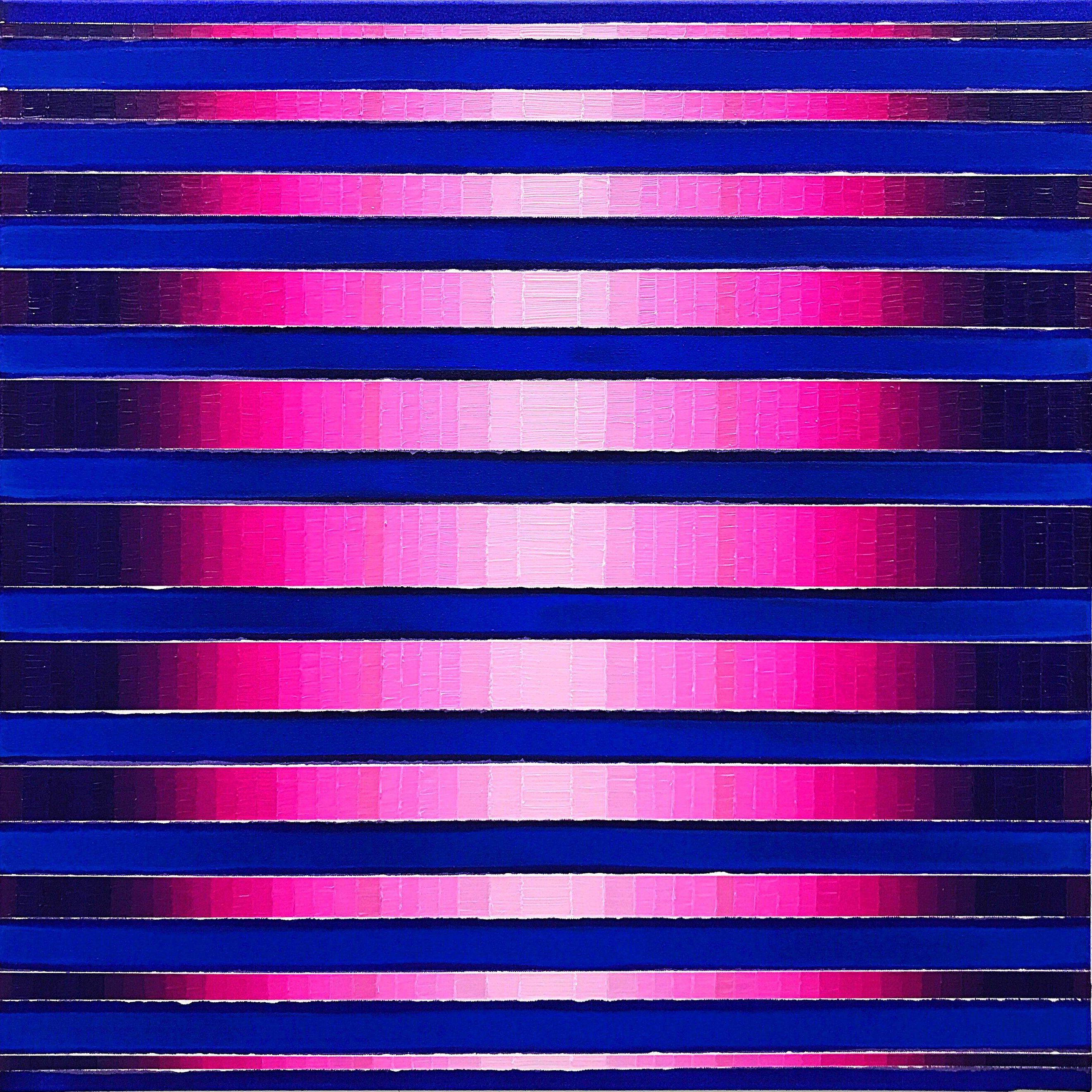 WAHRNEHMUNGSSTREIFEN 07 Canvas  80 x 80 x 2 cm  Acrylic Oil on canvas