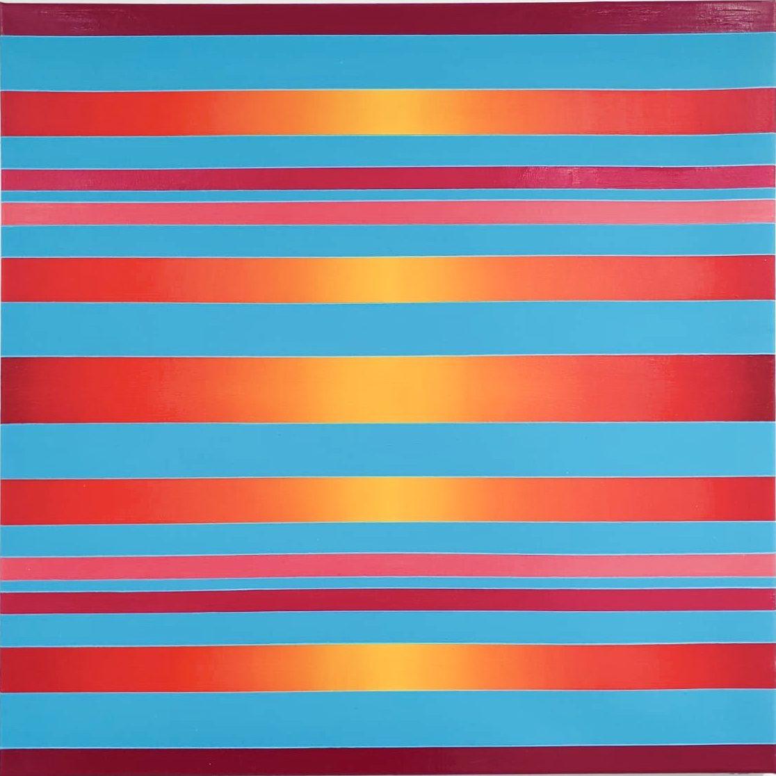 WAHRNEHMUNGSSTREIFEN 010 Canvas  70 x 70 x 2 cm  Acrylic Oil on canvas