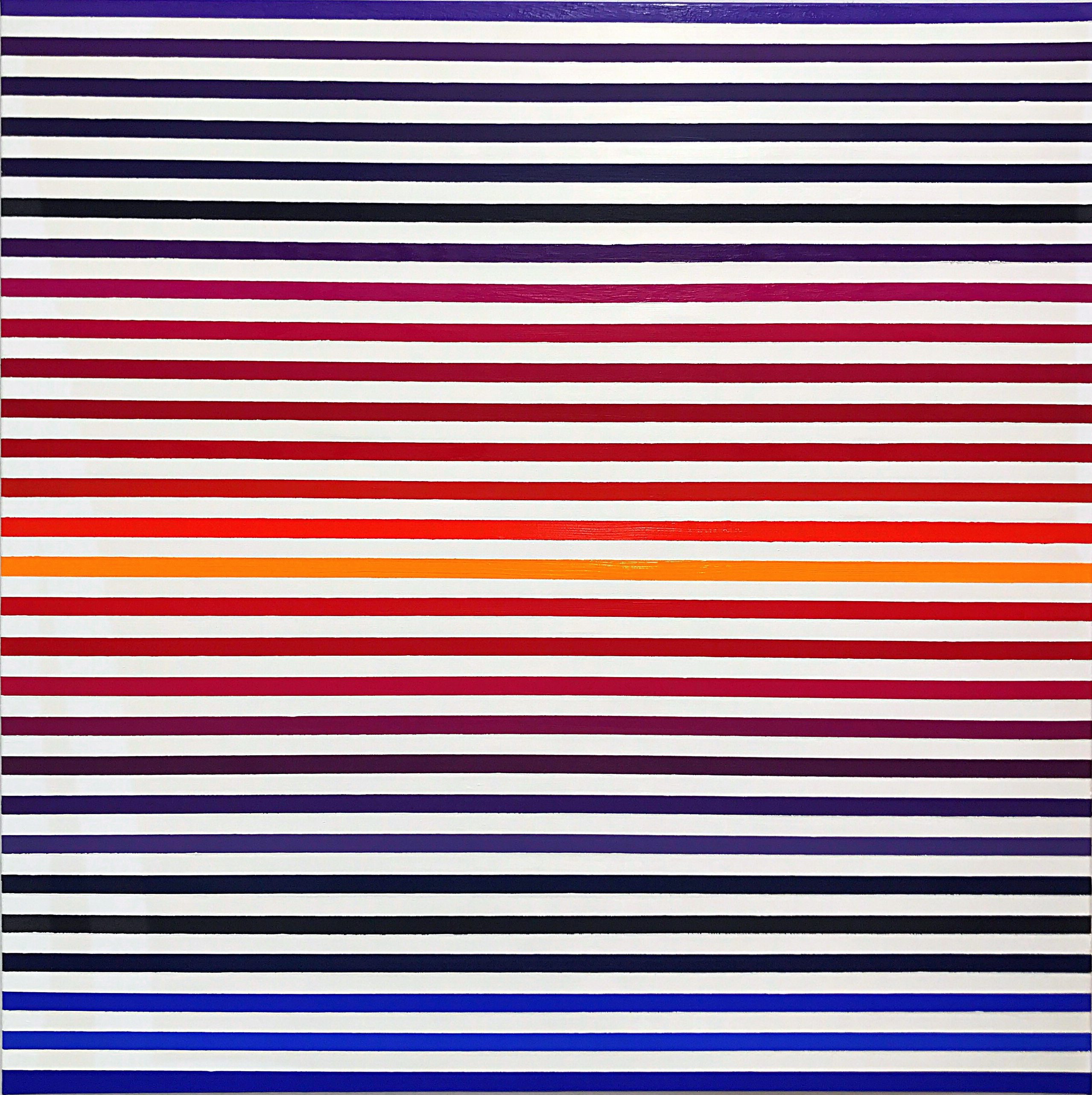 WAHRNEHMUNGSSTREIFEN 011 Leinwand : 70 x 70 x 2 cm Acrylic Oil on canvas