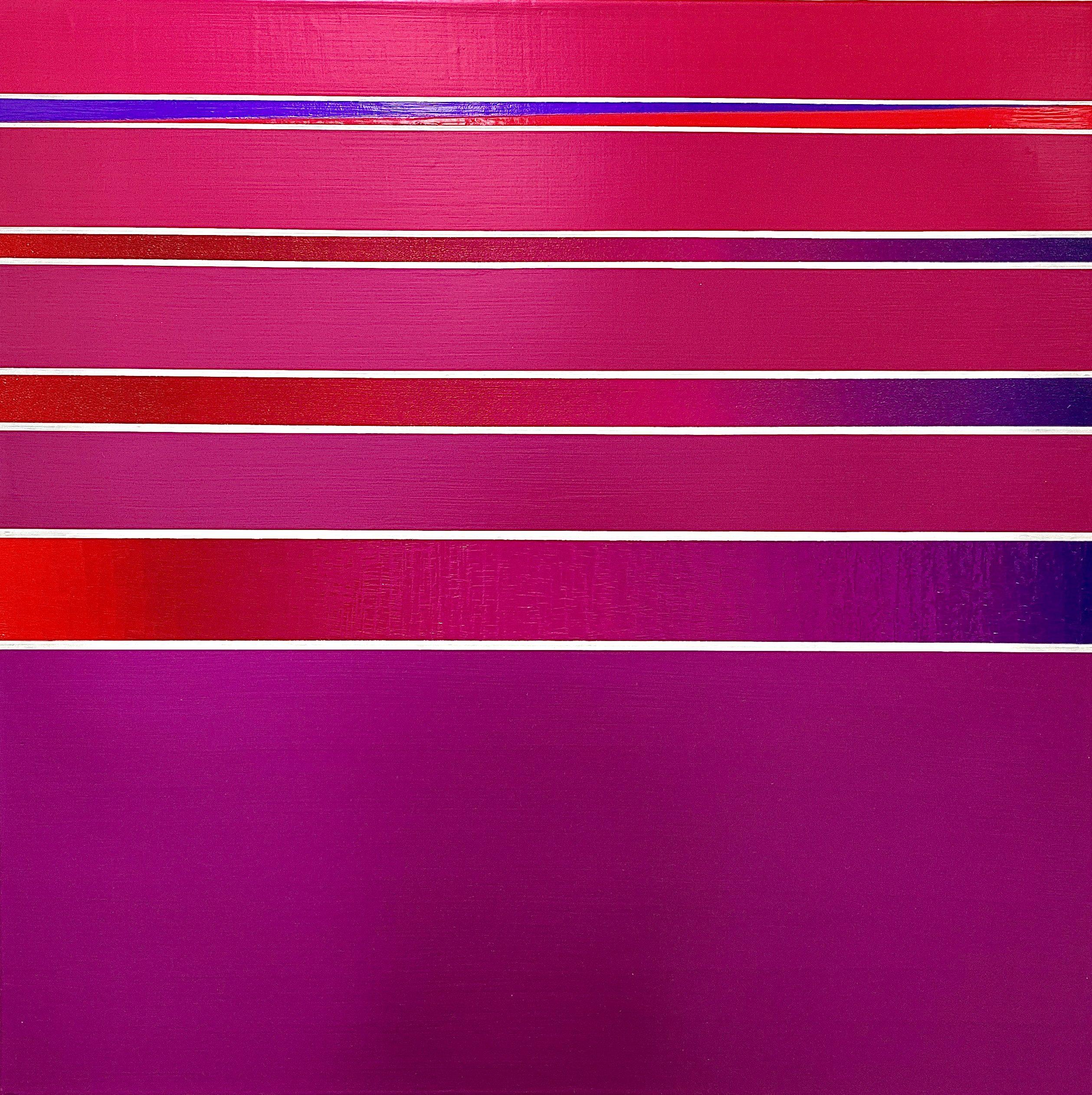 WAHRNEHMUNGSSTREIFEN 013 Leinwand : 70 x 70 x 2 cm Acrylic Oil on canvas