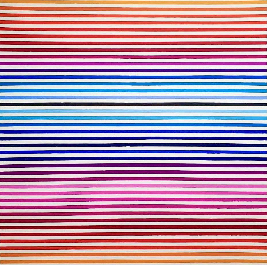 WAHRNEHMUNGSSTREIFEN 015 Leinwand : 70 x 70 x 2 cm Acrylic Oil on canvas