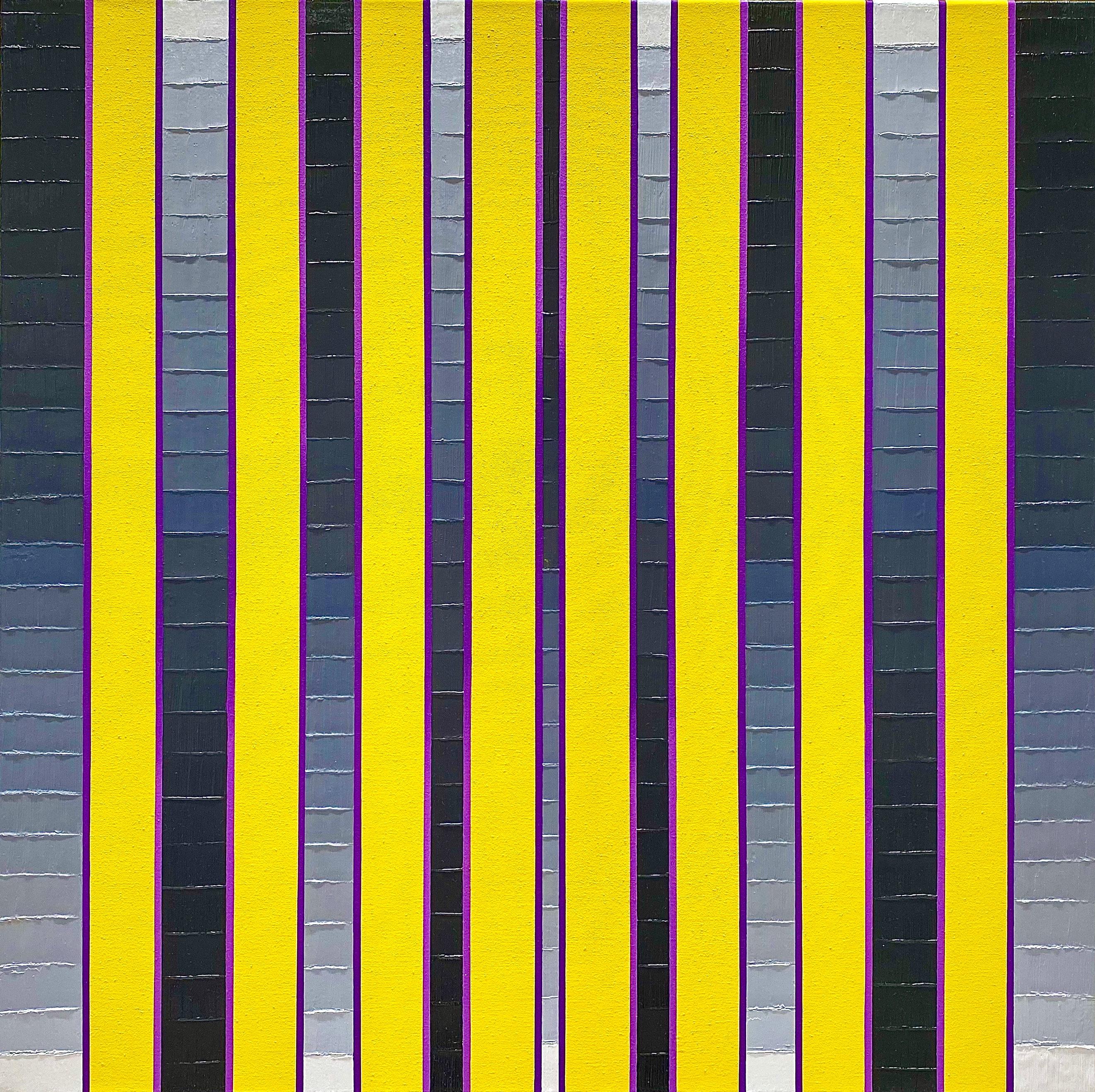 WAHRNEHMUNGSSTREIFEN 016 Canvas  70 x 70 x 2 cm  Acrylic Oil on canvas