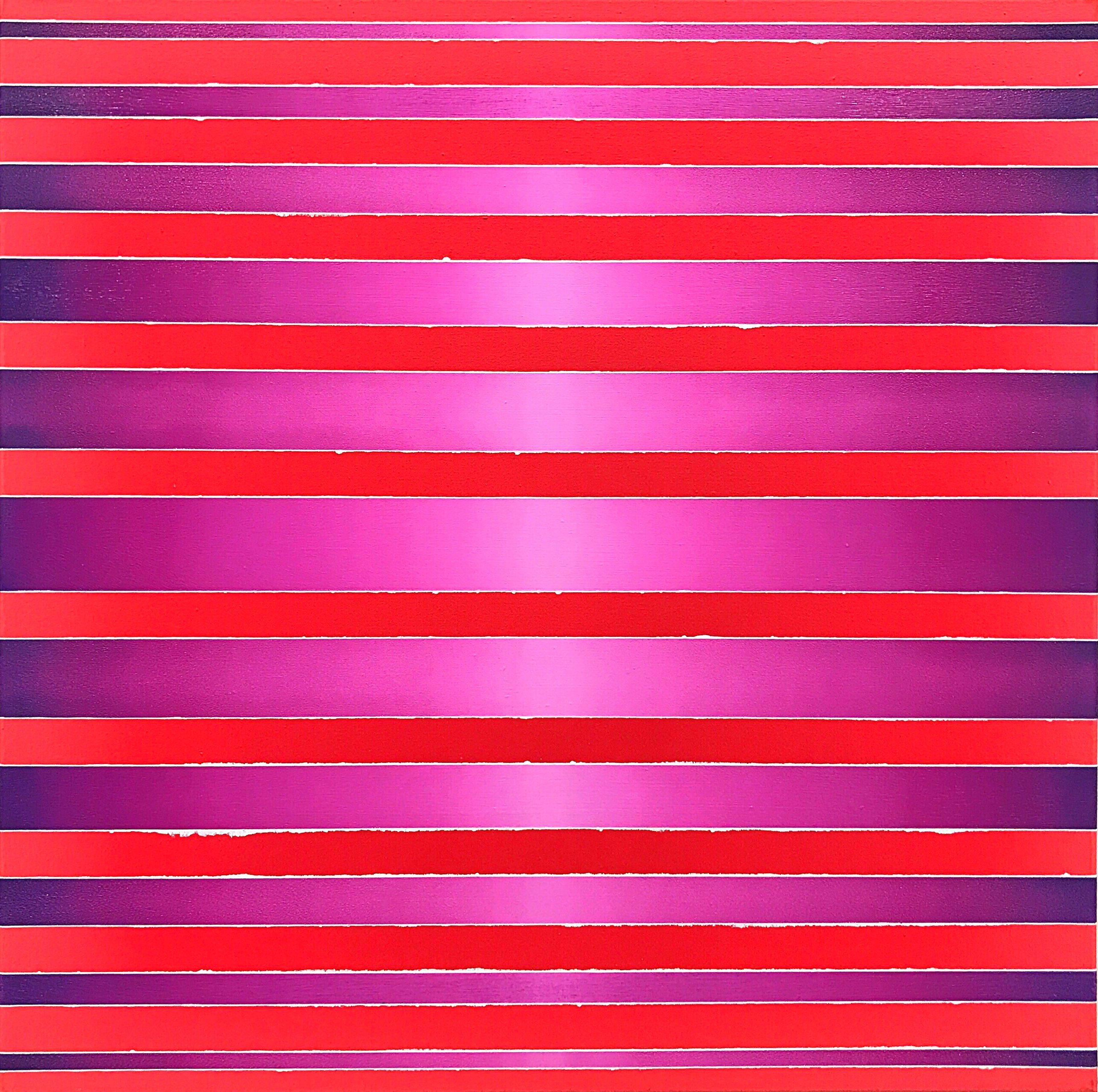WAHRNEHMUNGSSTREIFEN 08 Leinwand : 70 x 70 x 2 cm Acrylic Oil on canvas