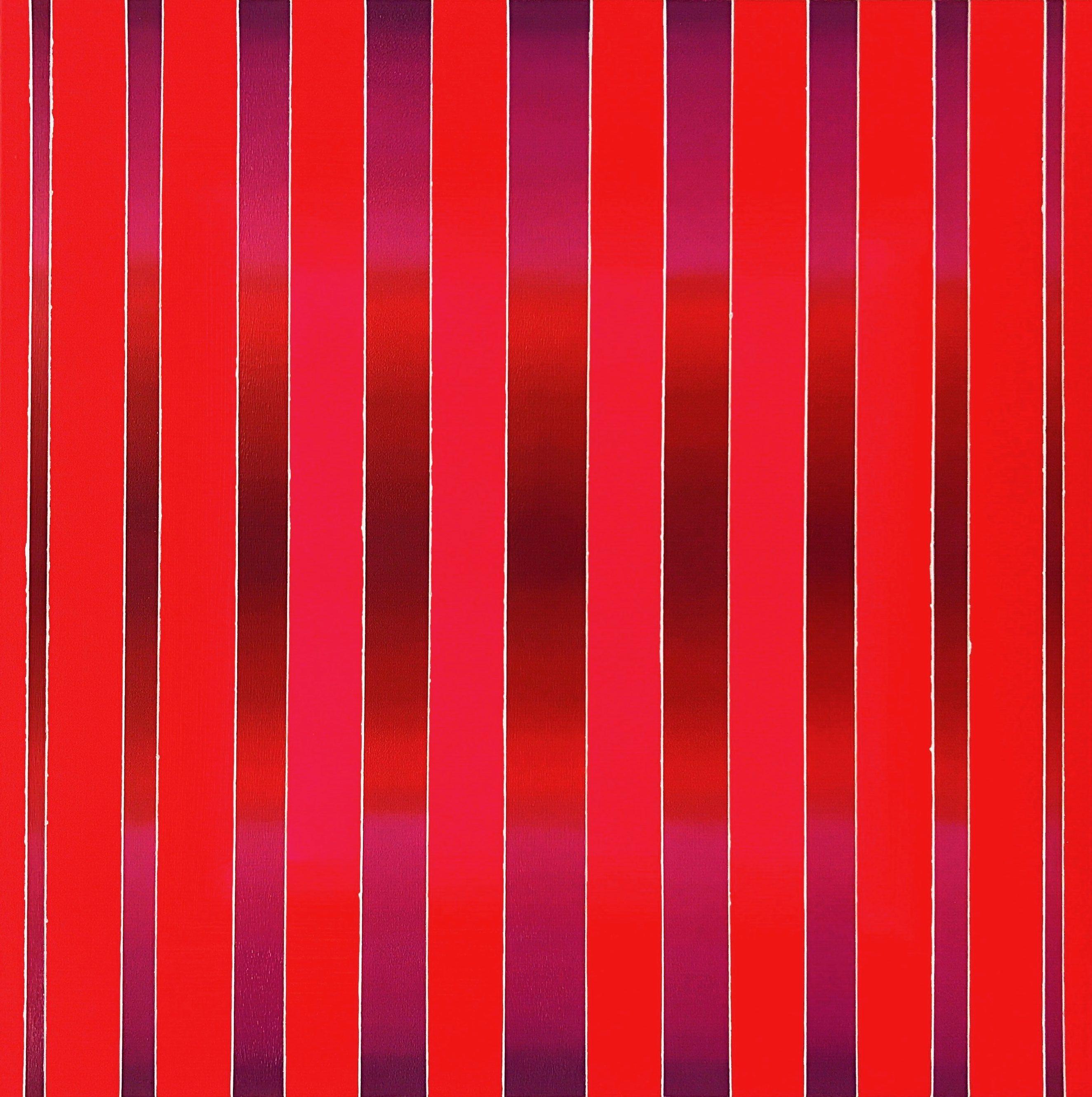 WAHRNEHMUNGSSTREIFEN 09 Leinwand : 70 x 70 x 2 cm Acrylic Oil on canvas