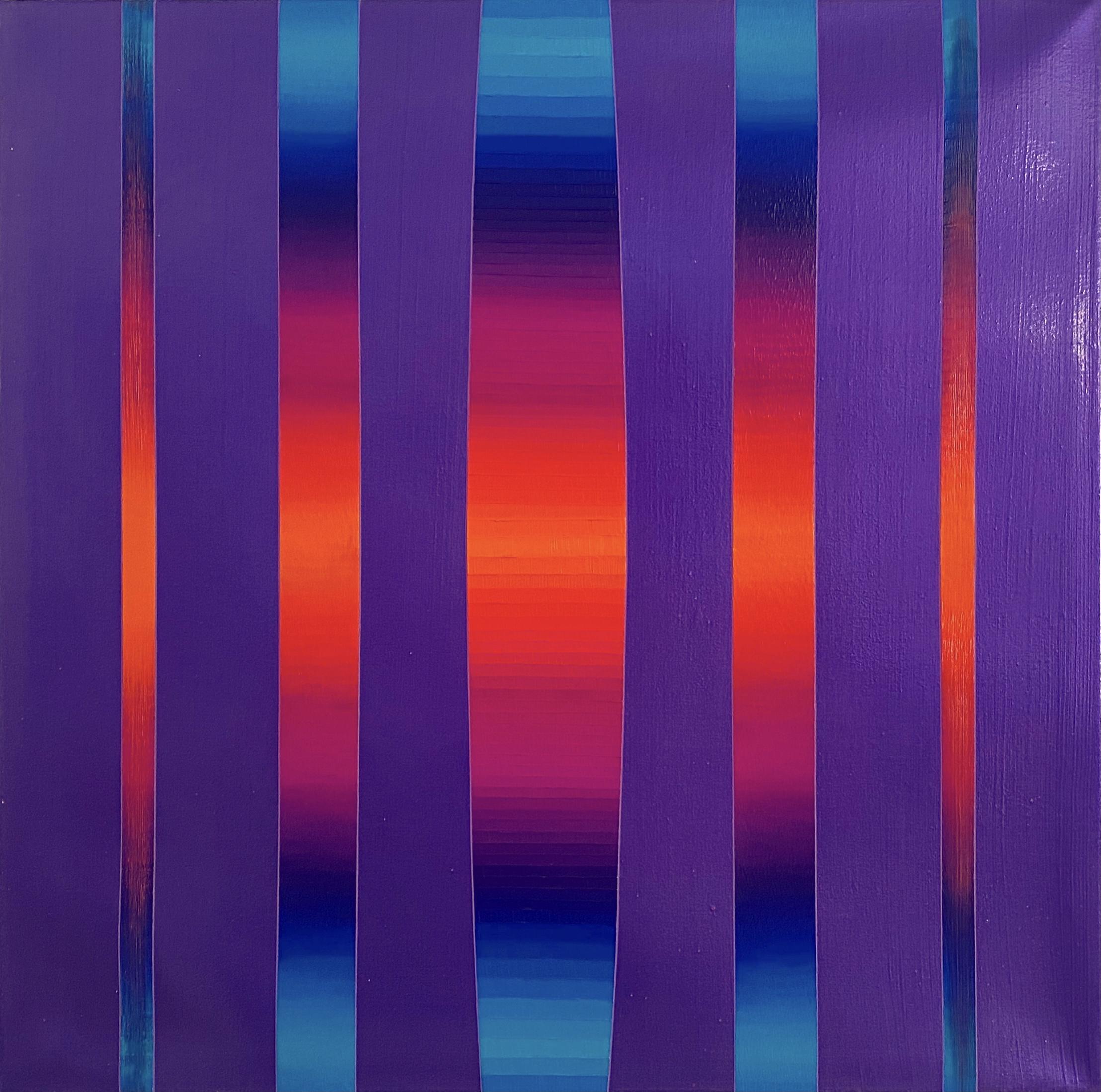 WAHRNEHMUNGSSTREIFEN 017 Canvas 70x 70 x 2 cm Acrylic metallic glossy Oil on canvas